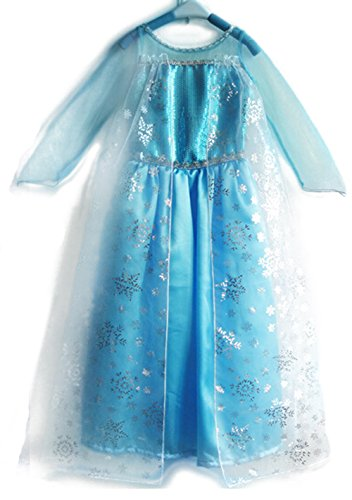 Aqueen Elsa Snow Queen Costume Dress Size: 6/7