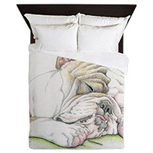 CafePress - Sleepy English Bulldog - Queen Duvet Cover, Printed Comforter Cover, Unique Bedding, Luxe (Bulldog Bedding compare prices)