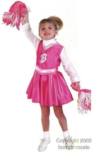 Kid's Cheerleader Barbie Costume (Size:Small