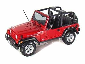 jeep wrangler rubicon cabrio rot 1 18 maisto modellauto modell auto toys games. Black Bedroom Furniture Sets. Home Design Ideas