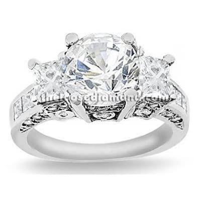 three-stone diamond anniversary ring