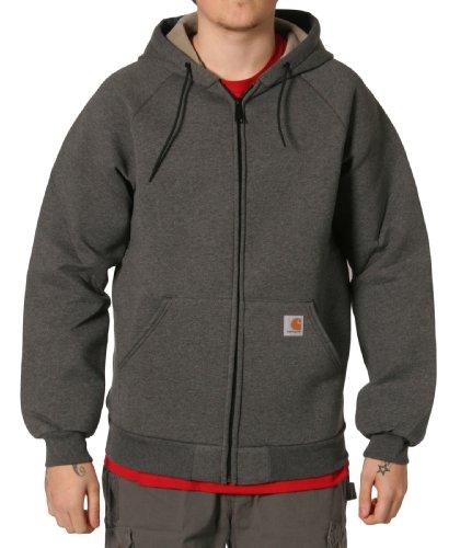 Carhartt 100465 Car-Lux Sweatshirt Grey Mens Hooded Top