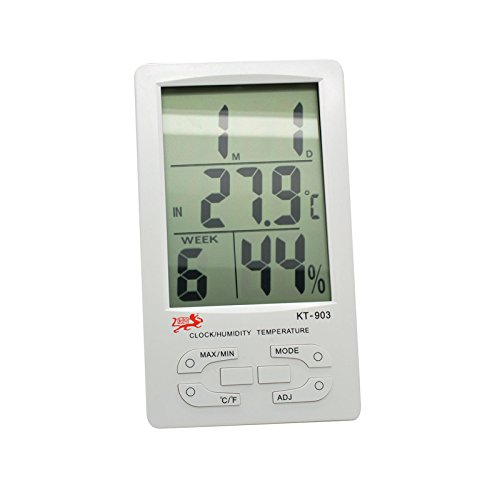 New Lcd Digital Clock Humidity Temperature Thermometer Hygrometer front-593687