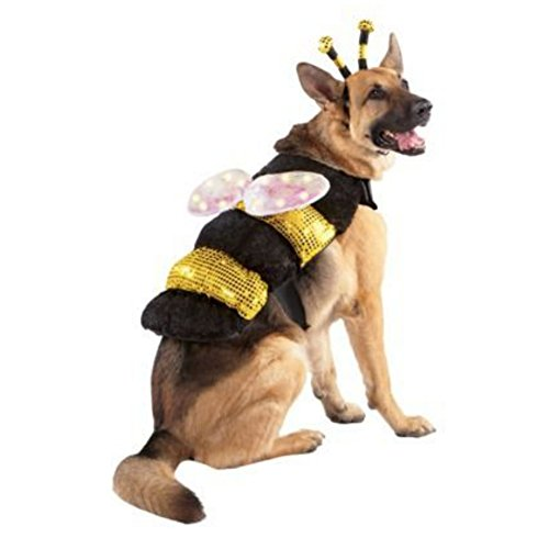 Light Up Led Dog Bee Costume Bumblebee Pet Outfit