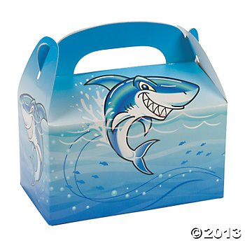 Shark Birthday Party Treat Boxes - 12 ct