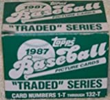 1987 Topps Baseball Card Traded Set - 132 Cards, Brand New!
