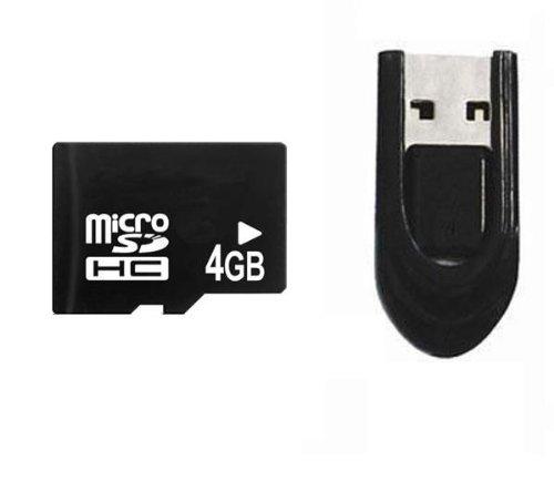 Integral - INMSDH4G4NAUSBR- Pack Combo Carte mémoire Micro SD - 4 Go + Lecteur USB