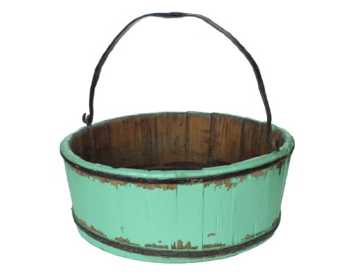 Antique Revival Vintage Clovis Bucket, Turquoise (Antique Pitcher And Basin compare prices)