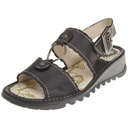 Fly London Women's Telma Black Sandal P500110012 5 UK