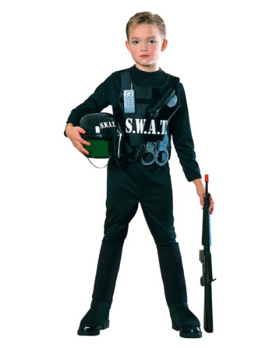Child's SWAT Team Police Man Costume (Size:Small 4-6)