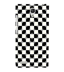 Fuson Premium Back Case Cover Checks pattern With orange Background Degined For Xiaomi Redmi Note::Xiaomi Redmi Note 4G