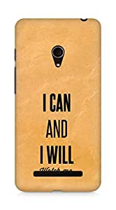 AMEZ i can and i will watch me Back Cover For Asus Zenfone 5