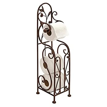 Deco 79 Metal Toilet Paper Holder, 24 by 8-Inch, Reddish/Bronze color