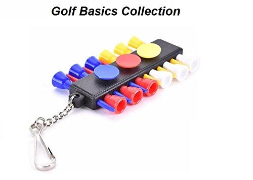 LL-Golf ® * Golf Basics * bunter Teehalter mit 12 Tees und 3 Ballmarkern / Halter