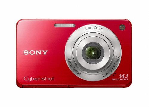 Sony Cyber-Shot Dsc-W560 14.1 Mp Digital Still Camera With Carl Zeiss Vario-Tessar 4X Wide-Angle Optical Zoom Lens And 3.0-Inch Lcd (Red)