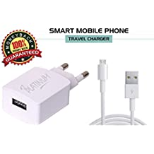 Celkon A119Q Signature HD Mobile Charger Compatible 3.1AMP 2 Port with Usb Cable-White