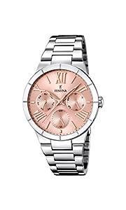 Festina F16716/3 - Reloj de cuarzo para mujer, con correa de acero inoxidable, color plateado por Festina