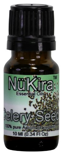 Celery Seed Essential Oil (Apium graveolens) Therapeutic Grade By NuKira (10 ml)