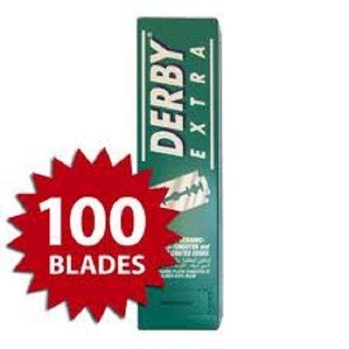 Derby Extra Platinum Coated Double Edge Razor Blades 100 pcs USA SELLER (Panasonic Sharpener 4 compare prices)
