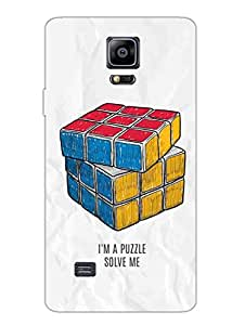I Am A Puzzle, Solve Me - Hard Back Case Cover for Samsung Note 4 - Superior Matte Finish - HD Printed Cases and Covers
