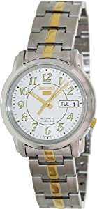 Seiko Women's 5 Automatic SNKL95K Two-Tone Stainless-Steel Automatic Watch with White Dial