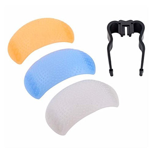 3 Color Pop Up Flash Diffuser For Canon Nikon Sony Dslr