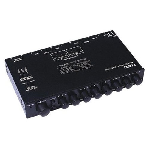 Absolute Eq-500 Compact Dash Mount 5 Band Eq With X-Over Sub Level Woofer Control And Aux Inputs
