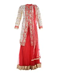 AAMVI Women Salwar (AS1342OFFWHITE RED, Off White & Red, 42)