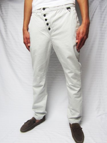 Eleven Paris Bayl Trousers (28 x 32, Silver Grey)