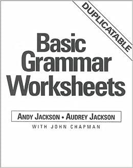 Basic Grammar Worksheets: Reproducible Book (ELT ...