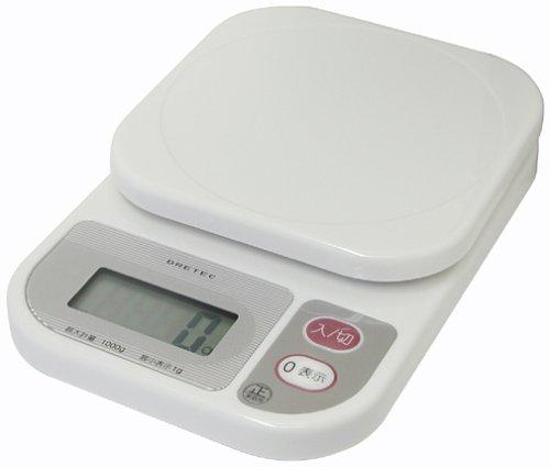 DRETEC 1kg balance compacte blanc KS-108-WT (japon importation)