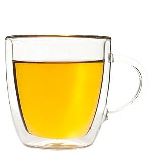 mohnblume kaffee cappuccino tee glas mit henkel 290ml doppelwandiges thermoglas mit. Black Bedroom Furniture Sets. Home Design Ideas