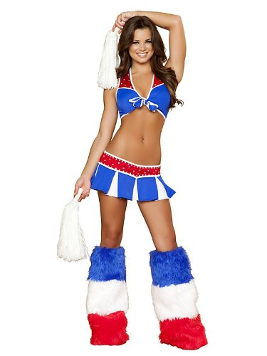 Charming USA Cheerleader Sexy Adult Costume