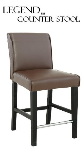 """Legends Modern Parsons 24"""" Counter Stool - Brown front-866129"""
