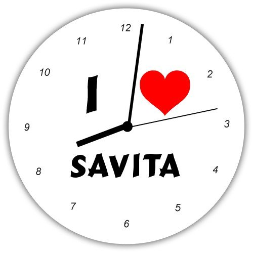 Amazon.com - Personalized Wall Clock with I Love Savita (first name