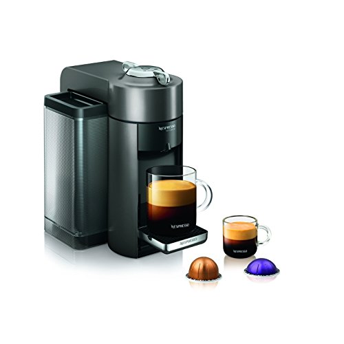 Nespresso GCC1-US-GM-NE VertuoLine Evoluo Deluxe Coffee and Espresso Maker, Graphite Metal