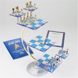 Star trek tri dimensional chess set by the franklin mint toys games - Multi level chess board ...