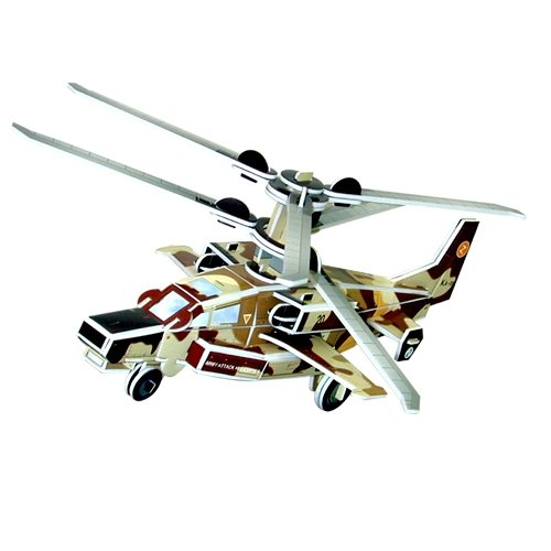 Jigsaw 3D Puzzle Transportation Series - Ka-52 Hokum