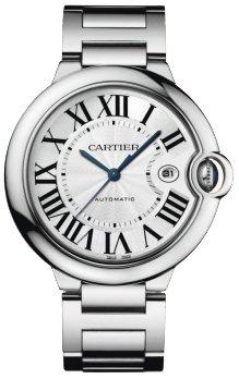 Cartier Ballon Bleu Mens White Gold Automatic Watch W69013Z2