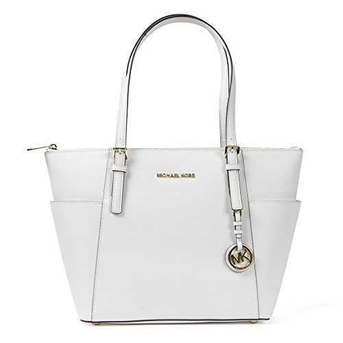 Michael Kors Handbag Jet Set East West Top Zip Tote Optic White