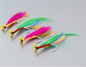 4 Pieces Dragonfly Design Single Hook Fishing