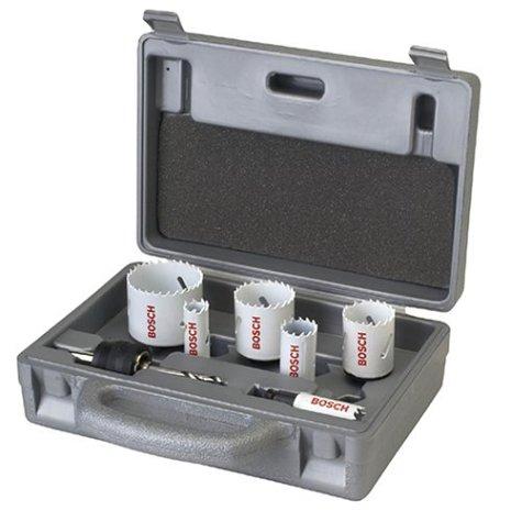 Bosch PC6PCP Plumbers Bi-Metal Power Change 6 Piece Hole Saw Set