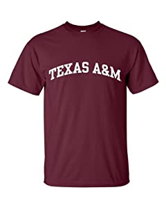NCAA Texas A&M University Aggies T-Shirt, Large, Maroon