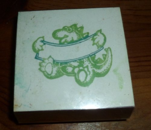 Dinosaur And Banner Rubber Stamp - 1