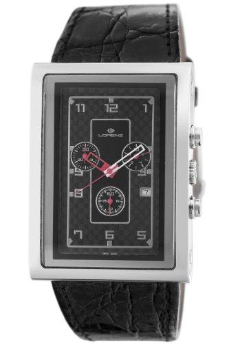 Lorenz Men's 025923AA TB7 Big Rectangular Chronograph Watch