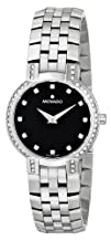Movado Womens 605586 Faceto Diamond Accented Stainless-Steel