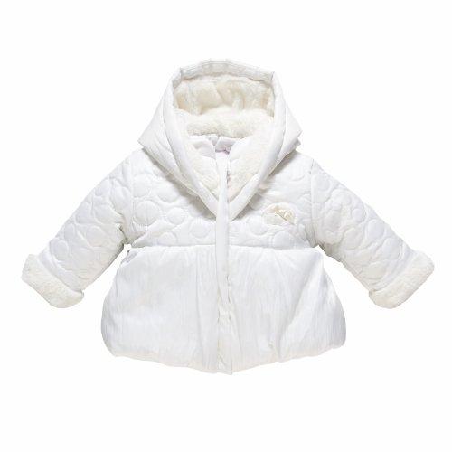 Chicco - Giacca con cappuccio, bambina, Bianco (Blanc), 6 mesi