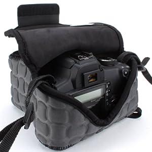 USA Gear dSLR Camera Case Holster Sleeve- Works with NIKON D7100 / D5200 / D5100 / D3200 / D3100 / D600 & More!