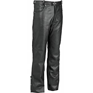 River Road Pueblo Cool Leather Overpants , Gender: Mens/Unisex, Distinct Name: Black, Size: 42, Primary Color: Black, Apparel Material: Leather XF09-4976