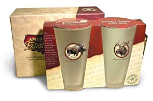 American Expedition Wildlife Pint Glass Gift Set (Moose)